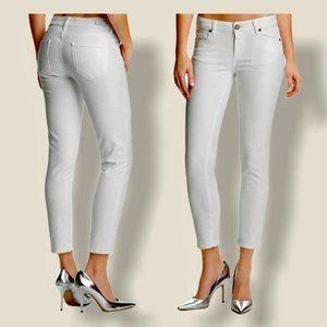 NWT Paige Denim Kylie Crop Optic White Skinny Jean